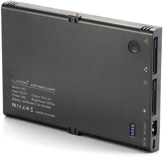 Видеосвет, LED панель LUXCEO P02 задня панель