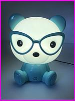 Ночник для детей Медвежонок лампа светильник ночная голубая для детской комнаты ночник для младенца