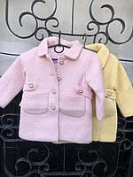Кашемировое пальто на девочек 100,110,120,130 см