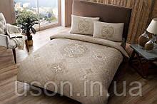 Комплект постельного белья полуторный размер TAC ранфорс SIANNA KAHVE