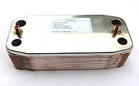 Теплообменник вторичный газового котла  Ariston UNO 18 пластин код: 995945А