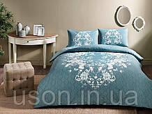 Комплект постельного белья полуторный размер TAC ранфорс SONYA MINT