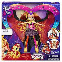 Май литл пони кукла Сансет Шиммер Девушки Эквестрии Rainbow Rocks 23 см. Hasbro B1041