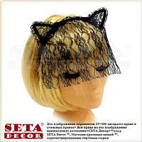 Ушки Гламурная кошка с гипюровой вуалью