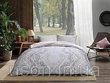 Комплект постельного белья полуторный размер TAC ранфорс VALERIA PEMBE