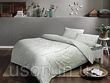Комплект постельного белья полуторный размер TAC ранфорс Teana Green