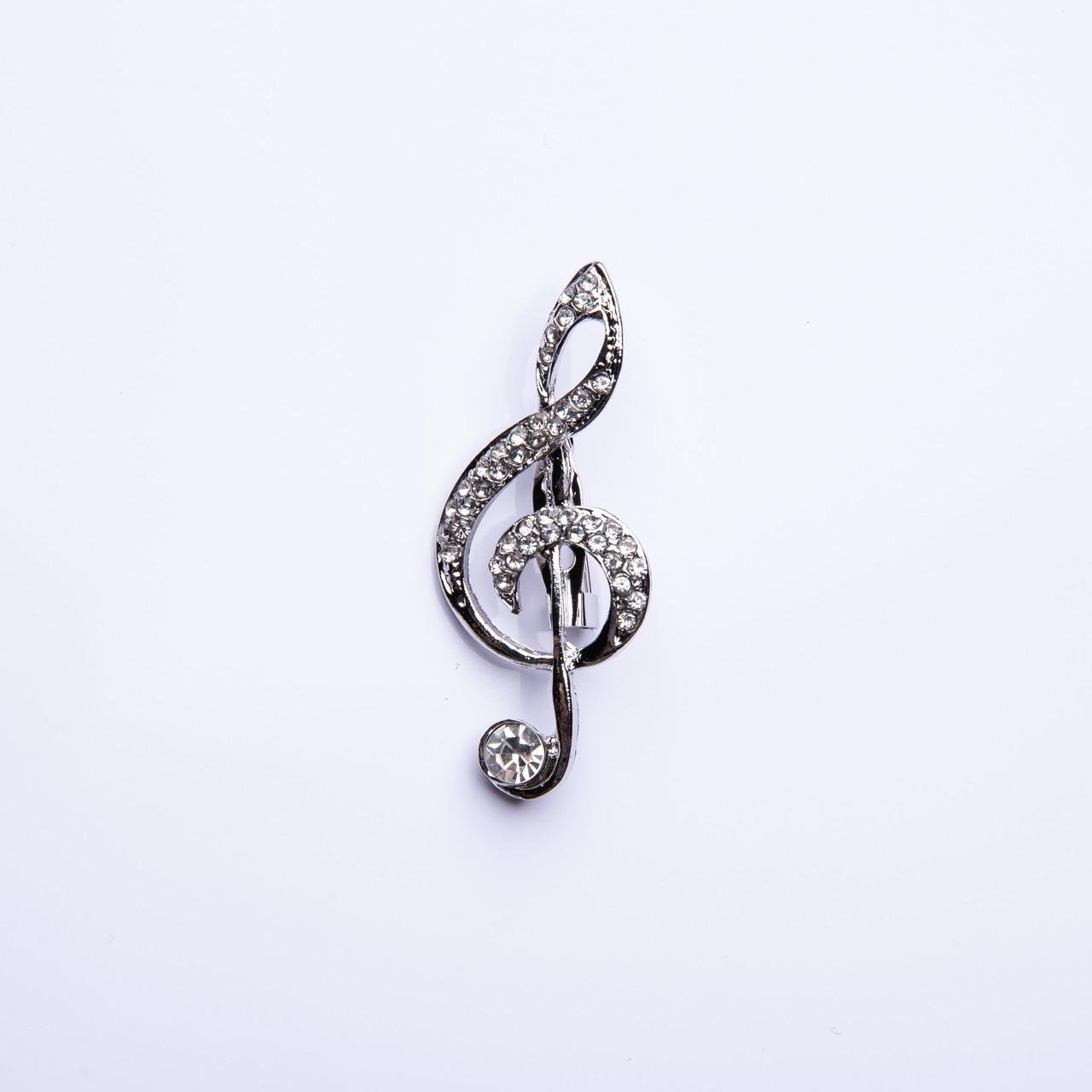 """Брошка """"Скрипічний ключ"""" 50х20мм"""