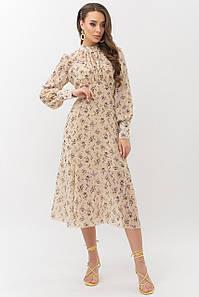 Модное приталенное платье 44,46,48 размер