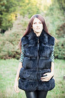Модная женская жилетка из натурального меха лисицы