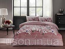 Комплект постельного белья полуторный размер TAC ранфорс LIZA GUL-KURUSU