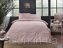 Комплект постельного белья полуторный размер TAC ранфорс LEONA PEMBE