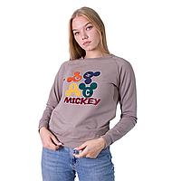 Женский свитшот Teamv Mickey 2 Мокко S