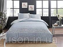 Комплект постельного белья полуторный размер TAC ранфорс LEONA MAVI