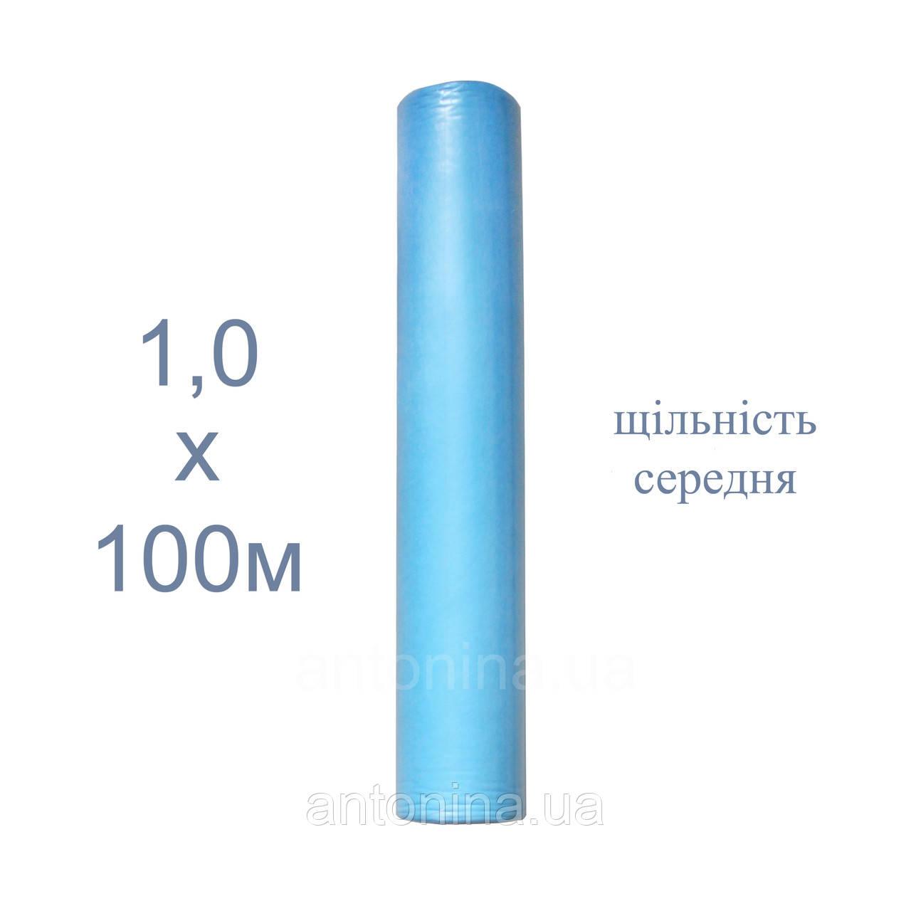 """Простыни одноразовые голубые 1,0х100м (пл.средн) ТМ """"Антонина"""", спанбонд"""
