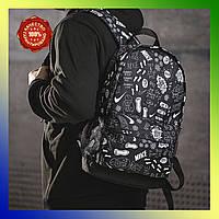 Рюкзак чоловічий спортивний з ручкою стильний місткий міський для тренувань чорний Nike найк