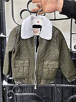 Куртка на Мальчика ЭКО кожа 80-130 см