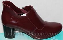 Черевики жіночі бордові жіночі від виробника модель КС204