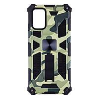 Панель - накладка для телефона Shockproof для Samsung A02s Eur Ver салатовый, пластик/металл, чехол для, фото 1