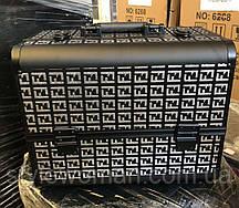 Б'юті алюмінієвий кейс Фенді валізу з ключем три висувні полиці