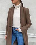 Пальто женское кашемировое демисезонное, фото 6