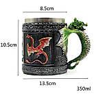 Кружка цветные драконы (объемная) 400 мл., фото 5