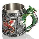 Кружка цветные драконы (объемная) 400 мл., фото 4