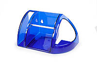 Полка для туалету синій напівпрозорий (АС 15210000)
