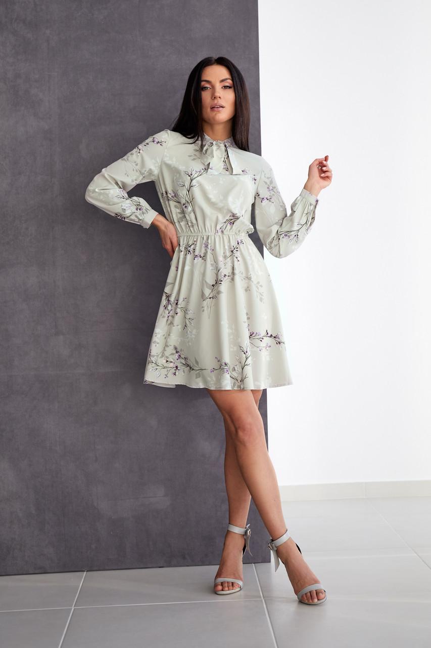 Легке плаття з софта сіре