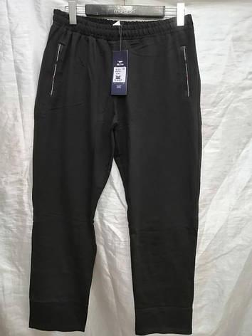 Спортивные брюки мужские MX TIM прямые трикотажные штаны Черные, фото 2