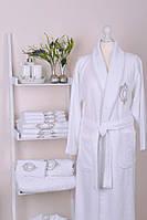 Банный махровый халат мужской ROZET white 100% хлопок ТМ  Gul Guler