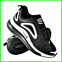 Кроссовки Nike Air Max 720 Чёрные с Белым Мужские Найк (размеры: 41,44,45) Видео Обзор