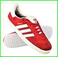 Кроссовки Adidas Gazelle Красные Мужские Адидас (размеры: 41,42,43,44,45) Видео Обзор