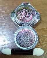 "Втирка розовая для ногтей Lilly Beaute ""Magic powder"" №16"