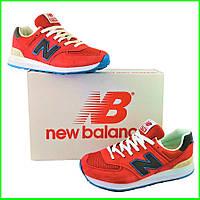 Мужские Кроссовки New Balance 574 Красные (размеры: 41,42,43,44,45) Видео Обзор
