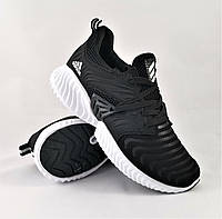 Кроссовки Мужские Adidas Alpha bounce Черные Адидас Все размеры, размерная сетка в описании Видео Обзор