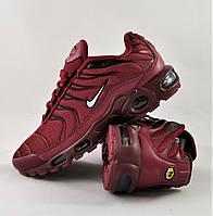 Кроссовки Nike Air Max Plus OG TN Бордо Мужские Найк Красные (размеры: 41,42,43,44,45,46) Видео Обзор