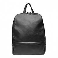 Женский кожаный рюкзак черный / из натуральной кожи / женские рюкзаки