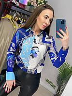 Женская яркая рубашка (блузка) 42, 44, 46, 48, фото 1