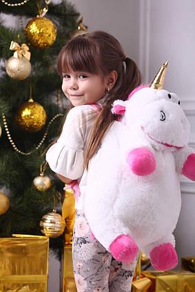 Дитячий рюкзак Єдиноріг Флаффи 60 см, дитячий м'який плюшевий портфель іграшка