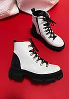 "Женские ботинки""Белые"" 38"