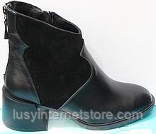 Черевики жіночі чорні шкіряні від виробника модель КС5065