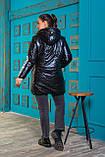 Тепла жіноча батальна куртка з накладними кишенями і капюшоном (р. 48-56)., фото 2