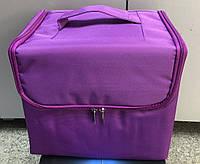 Сумка майстра фіолетова тканинна