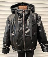 Детская куртка Экокожа для девочки 34-42 размеры