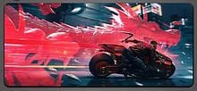 Игровая поверхность Cyberpunk 2077 800x300 Red Black