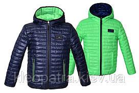 Демисезонная яркая куртка двухсторонняя для мальчика