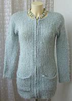 Платье женское на молнии вязаное с люрексом теплое зимнее мини бренд Papaya р.44 4413а