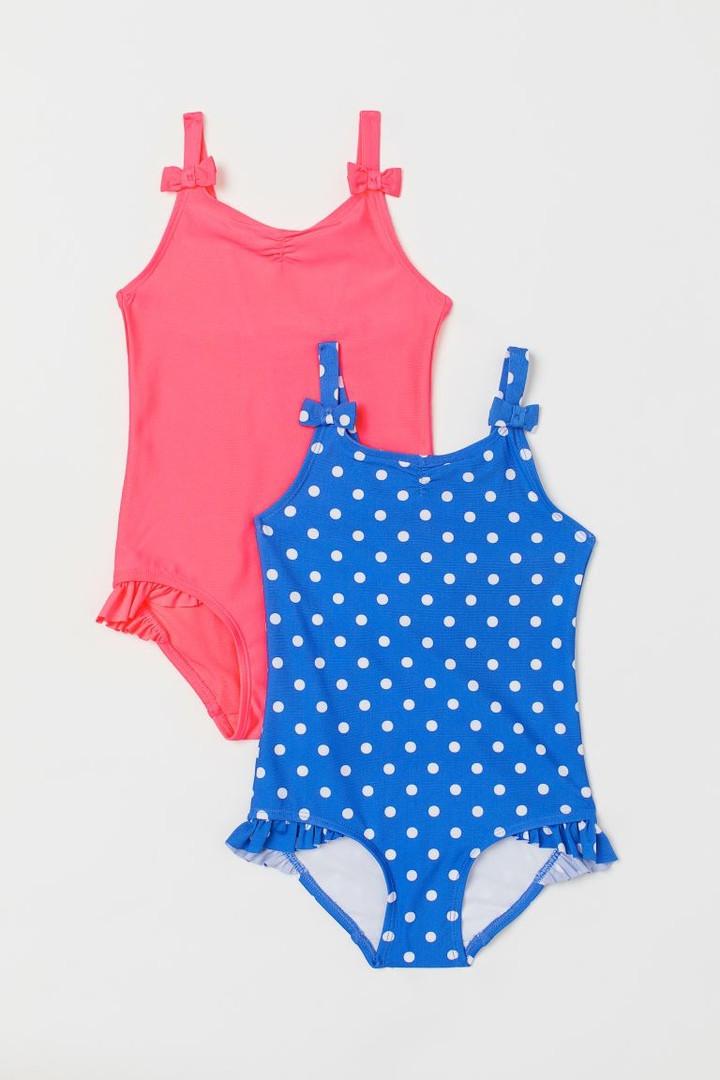 Дитячі слитные купальники з рюшами і бантиками для дівчинки НМ (поштучно)