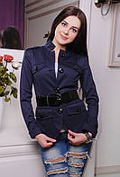 Пиджак женский Кутюр темно-синий 844