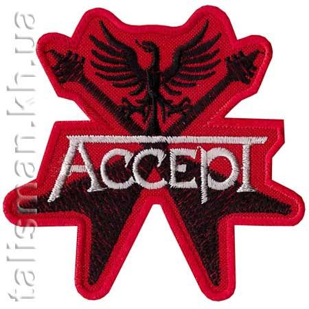 Нашивка с вышивкой ACCEPT 1 гитары